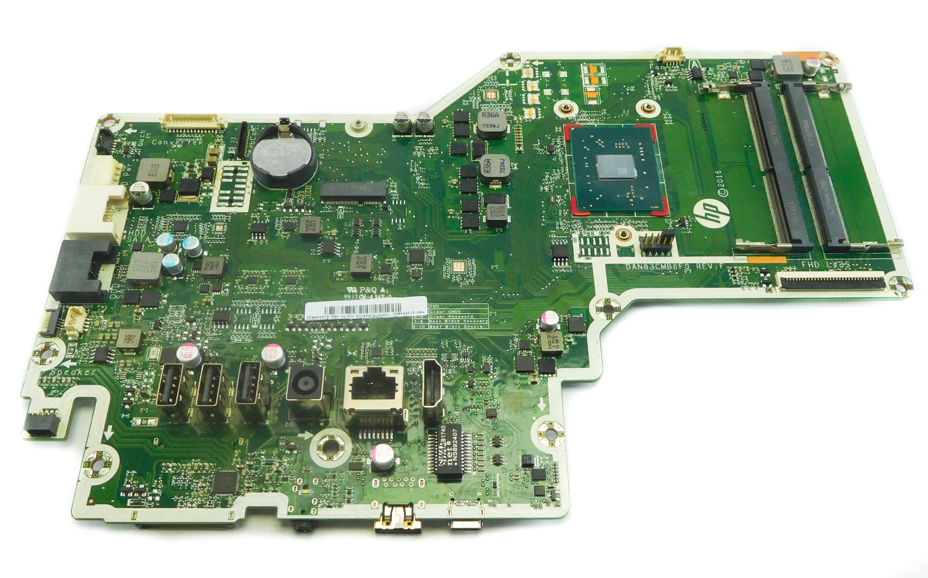 HP 844815-004 AiO PC Motherboard /w BGA AMD A9-Series A9-9410 CPU